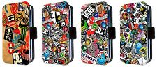 Skateboard Famous Brands Stickerbomb Phone Flip Case Fits iphone