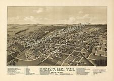 1886 Greenville Texas Map - Hunt County - 18x24