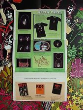 KISS 1978 PETER CRISS  SOLO LP ALBUM SPECIAL MERCHANDISE ARMY ORDER FORM INSERT