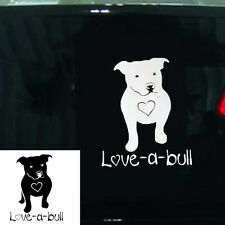 I Love My Pitbull Dog Vinyl Car Window Decal Sticker Love-a-bull Pit Bull Hot
