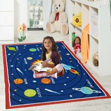 KIDS GALAXY PLANET GIRLS BOYS BEDROOM RUGS NURSERY FLOOR PLAY MATS HOME CARPETS