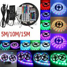 5M 10M 15M 3528 5050 RGB SMD Flexible Light LEDStrip Remote Power Supply Adapter