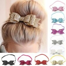 Baby Infant Girls Hair Band Sequined Bow Headband Hair Accessories Headdress New