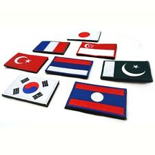 Nice Nation Flag Emblem Patch Applique Embroidered Country National Sew Trim New