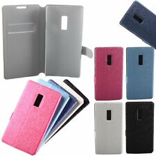 Flip Card Slot Wallet Stand Holder Silk PU Leather Case Cover For OnePlus 2 3