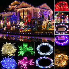 Christmas LED Fairy Lights String Indoor Outdoor Party Decor Battery Plug Power