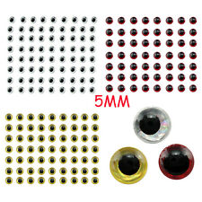 Lot 500pcs 3D Holographic Fishing Lure Eyes For Fly Tying Jigs Craft Dolls 5mm