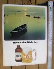 RARE vintage DIXIE BEER New Orleans 24x18 boat poster