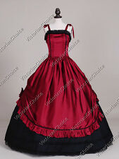 Victorian Steampunk Corset Bodice Dress Ball Gown Vampire Halloween Costume 246