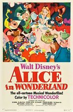 ALICE IN WONDERLAND DISNEY MOVIE POSTER FILM A4 A3 ART PRINT CINEMA