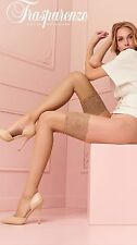 TRASPARENZE VOILE Deep Welt Lace Top Hold Up Stockings Nylons Hosiery 8 Denier