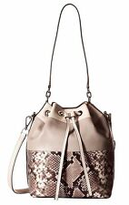 BRAND NEW MICHAEL MICHAEL KORS DOTTIE LARGE LEATHER BUCKET BAG NATURE/PEACH/AZUR