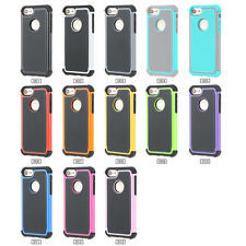 Shockproof Hybrid Rugged Rubber Hard Case Cover Skin for Apple iPhones Durable