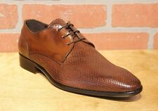 Calzoleria Toscana Men's Oxford Mahogany Leather Dress Shoes Made in Italy Z190