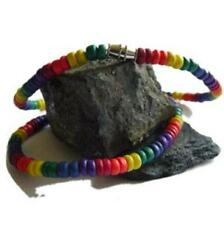 Gay Pride Rainbow Coco Bead Necklaces Surfers Choker