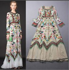 2016 Occident Fashion Runway New Embroidered luxurious Party Long Formal Dress