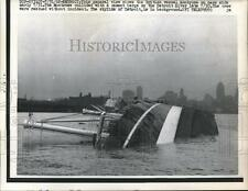 1962 Press Photo British vessel Montrose on her side after collision with barge