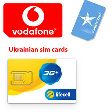 "3G Ukraine ""Lifecell"" or ""KIEVSTAR"" or ""Vodafone"" ( MTС) Sim card *choice"