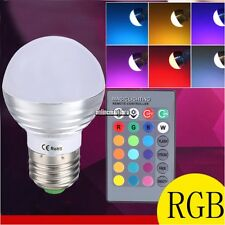 Remote Control E27 5W LED Color Changing Magic Light Bulb RGB Party Lights Lamp