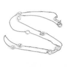 Bezet Set CZ by the Yard Cable Chain Necklace Anti-Tarnish 925 Sterling Silver
