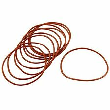 60mm x 56m x 2mm Red Silicone O Ring Oil Seals 10 pcs
