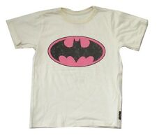 DC Comics Trunk LTD Batman Bat Logo Kids Youth Cream T Shirt NEW Signal Classic