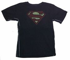 DC Comics Trunk LTD Superman Classic Chest Logo Kids Youth Black T Shirt NEW