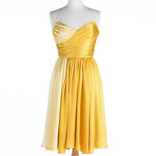 NWT Betsey Johnson DRESS Sunny Sweetheart Formal SIZE 2,6 YELLOW Silk Ombre