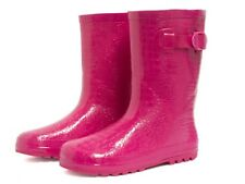 HENRY FERRERA  KIDS GIRL'S PINK K - CAMP COMFORTABLE RAIN/SNOW RUBBER  BOOTS