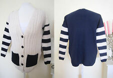 Ladies RIVER ISLAND OVERSIZE CABLE KNIT CARDIGAN SIZE 6-8 VINTAGE SWEATER JUMPER