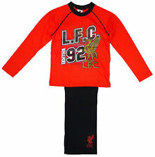 Boys Official LIVERPOOL LFC 92 Print Cotton Pyjamas Pjs Red 4 to 12 Years NEW