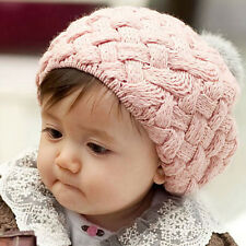 Toddler Girl Boy Crochet Earflap Beanie Hat Newborn Baby Kid Warm Soft Cap Beret