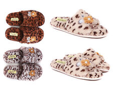 Ladies Luxury Slippers With Fur Lining Size 3 to 8 UK Slip On Mules - XMAS GIFT