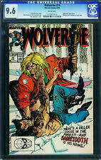 Wolverine #10 cgc Graded 9.6- sabertooth-white Pages- 1989 1173077015