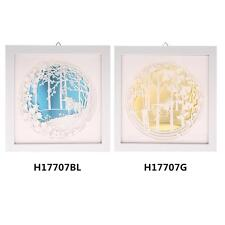 3D Decorative Painting Paper Engraving Wall Living Mural Decoration 24*24cm J3S0