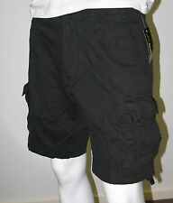 Mens Army Style Work/Camp/Fish Cargo Shorts -Black