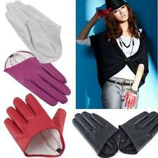 Fashion Sex and The City PU Leather Women Five Finger Half-Palm Gloves Size L