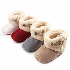 New Snow Boots Prewalkers Toddler Girl Baby Infant Lovely Anti-Slip Crib Shoes