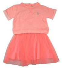 US Polo Assn Girls Neon Ginger Tulle Detail Dress Size 4 5 6 6X $40