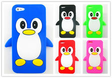 Cute Penguin Soft Animal Silicone Skin Rubber back Case Cover For iPhone