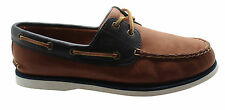 Timberland Earthkeepers 2 Eye Mens Boat Shoes Tan Navy Leather 6204A D74