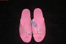 LADIES SHOES-HOMY PED9 C RELAX COVE COMFORT FOOTWEAR PINK OPEN TOE SLIPPERS