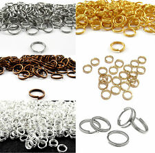 Double Split Jump Rings Gold Silver Plated Connectors Finding 4/5/6/8/10/12/14mm
