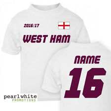 West Ham Personalised Baby T-Shirt
