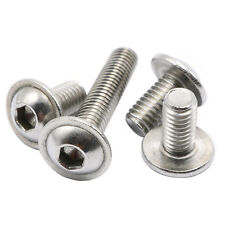 M4 Stainless Steel Flanged Button Head Screws Allen Socket Bolts 50-pieces
