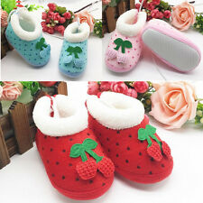1 Pair Boots Toddler's Cute Infant Baby Winter Polka Dot Soft Shoes Non-Slip