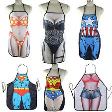 Hot Funny Sexy Naked Women Men Home Kitchen Cooking BBQ Apron Durable WL