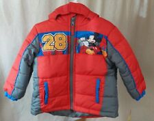 NWT! $80 Toddler Boys Disney Red MICKEY MOUSE Winter Puffer Jacket Coat  4T