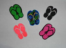 """""""Flip Flops/ Sandals"""" Iron-On Embroidered Patch- MANY COLORS & Hawaiian"""