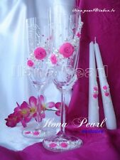 Personalized Wedding Champagne Toasting Glasses Flutes Mr Mrs Bride Groom Roses